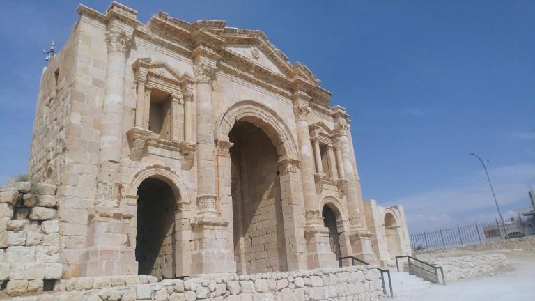 L'entrée de Jerash